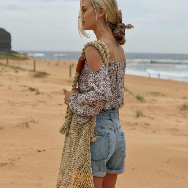 Bohemian Blouse| Off-Shoulder Blouse Summer Blouse Brigitte Vintage-Inspired