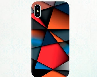 Multicolored Colorful Case iPhone 6/7/8/X iPhone SE 5S/5C Samsung Galaxy S3/S4/S9 Unique Phone Case Samsung Galaxy S8 geometric figures