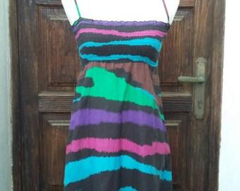 83a1e49180c8b1 Hippie-Kleid der 90er Jahre 100 % Baumwolle Größe: XS UK 6 USA 4 in Indien  hergestellt