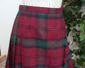 Vintage Scottish skirt 70s Size: S UK 8 USA 6