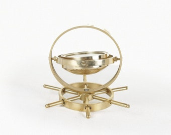 Gold Brass Spinning Compass