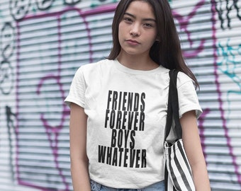 3374b42ac9 Women s t-shirt-Friends forever women s t-shirt -Christmas Gift Idea -best  friends T-shirt-Casual chic tshirt-shirt for woman-tops and tees-