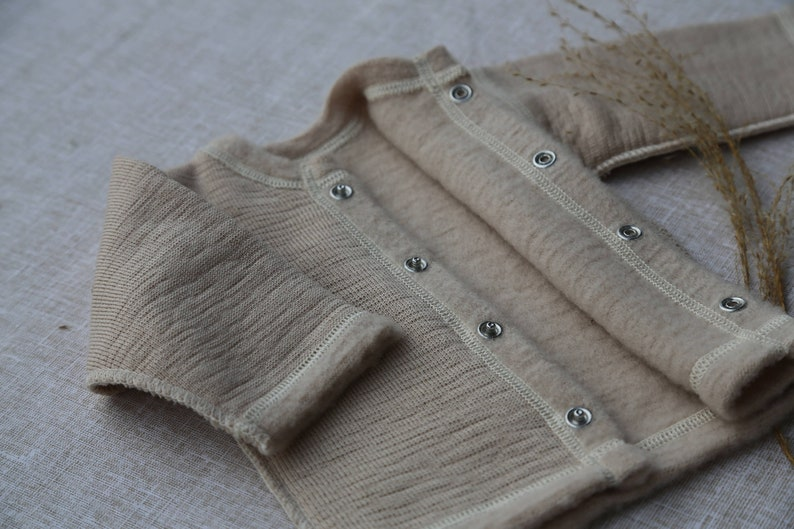 16139d8a2 Organic baby clothes Baby jacket Merino wool cardigan Baby