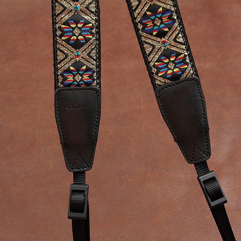 Embroidery Camera Strap Vintage Embroidered Camera Strap Christmas Gift Camera Accessories National Style Embroidered Camera Strap
