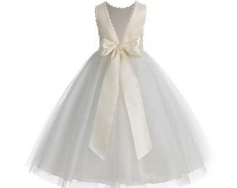 81828ba731f Ivory flower girl dress