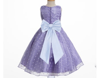 aab0efae06f Purple Flower Girl Dresses Organza Dress Purple Dress