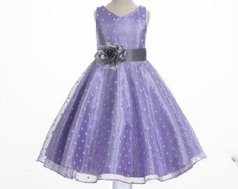 1a37de79ca5 Purple flower girl dress
