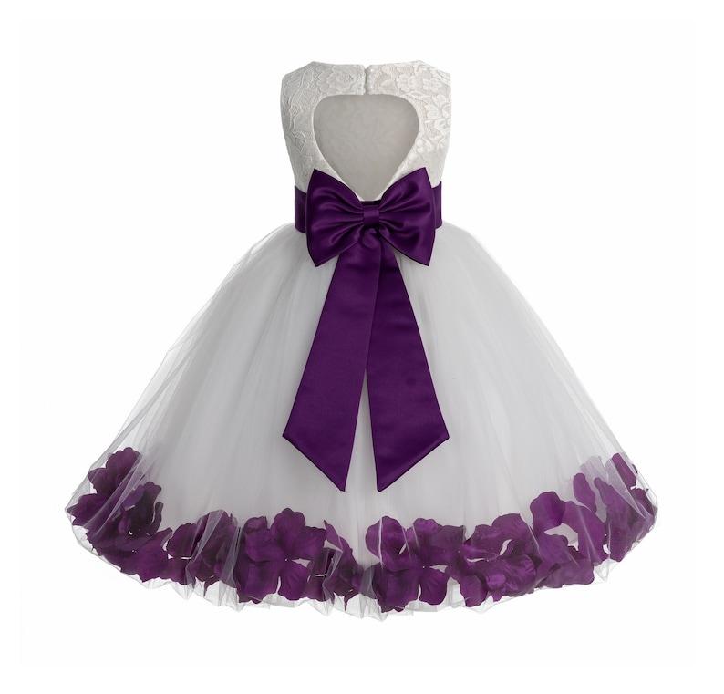 53da3878e2c Heart Shaped Cutout Ivory Flower Girl Dress Girl Lace Dress