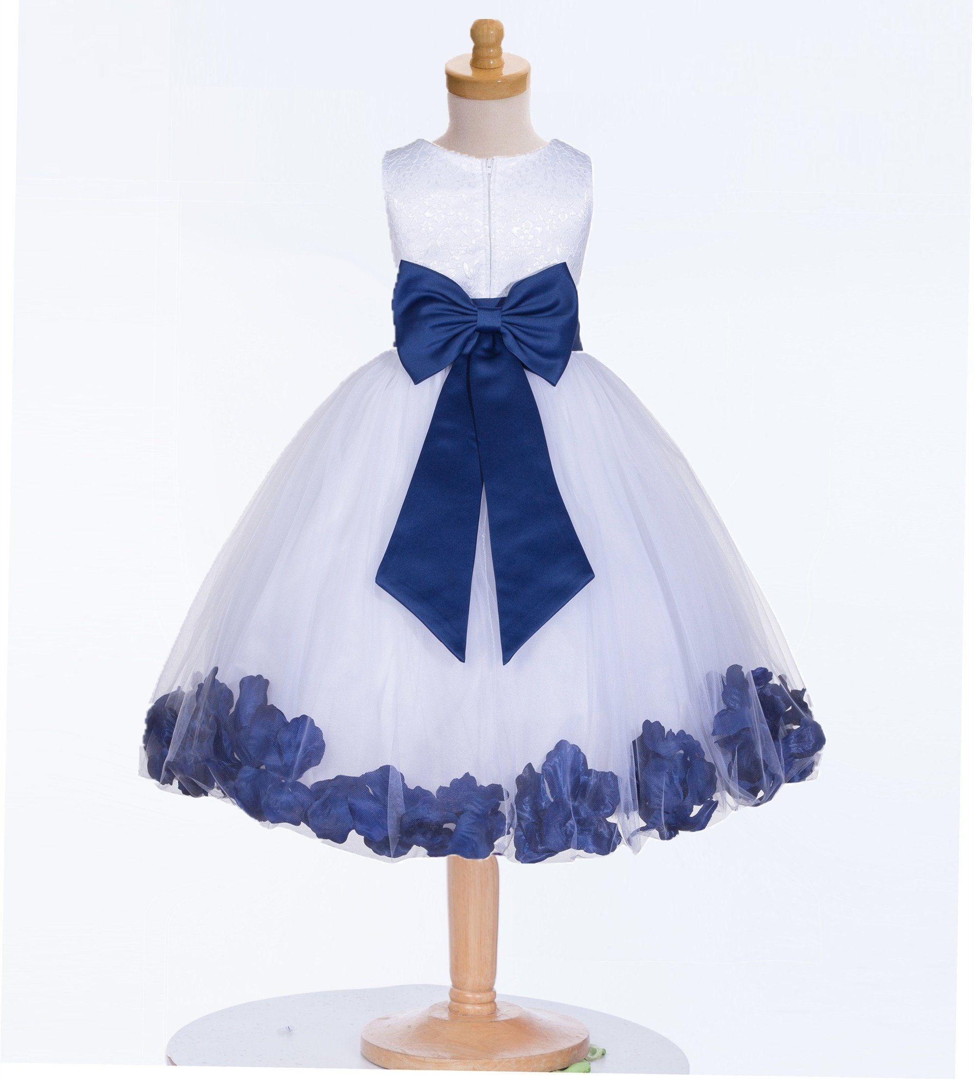 0ff24c19a3d White Flower Girl Dress With Pale Blue Sash - Data Dynamic AG