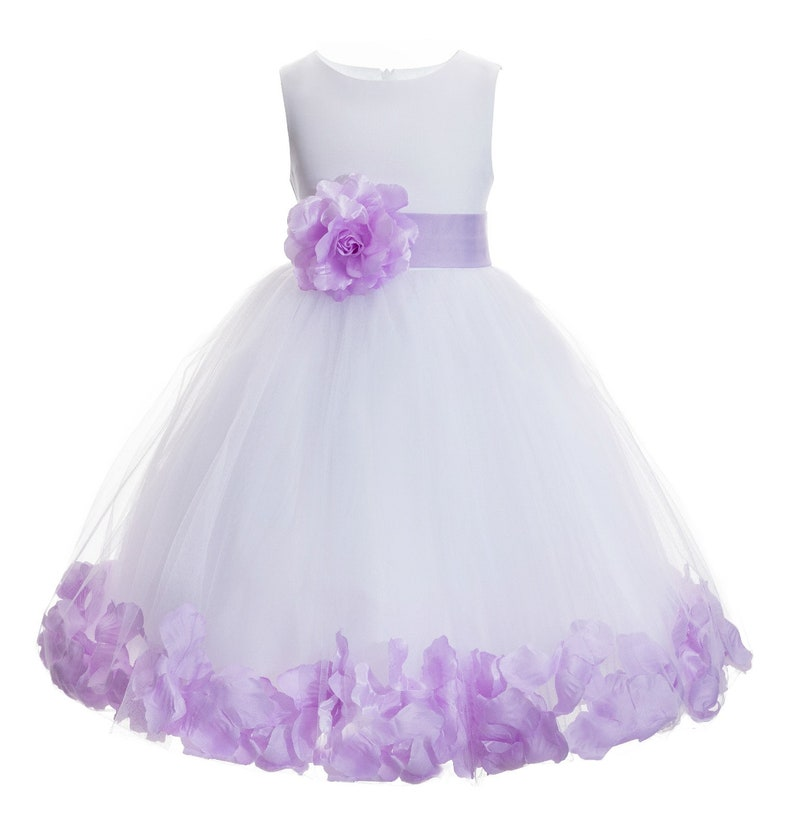 Easter Ivory Floral Petals Design Flower girl dress Wedding Junior Bridesmaid Communion Baptism Toddler Dress Holidays Special Occasions