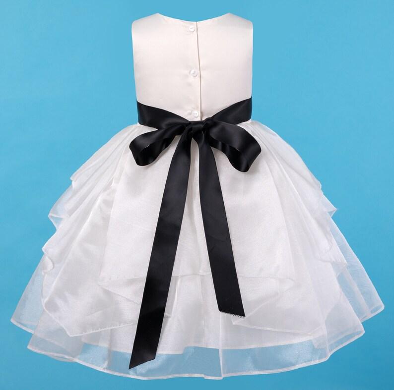 13771d699c Ivory Flower girl dress Wedding Junior Bridesmaid Communion