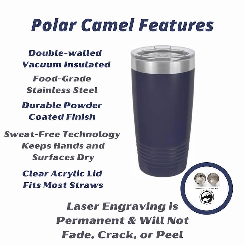 Boyfriend Gift Personalized Coffee Tumbler for Dad 20oz Polar Camel Tumbler with Slider Lid Dada Bear Tumbler Engraved Tumbler