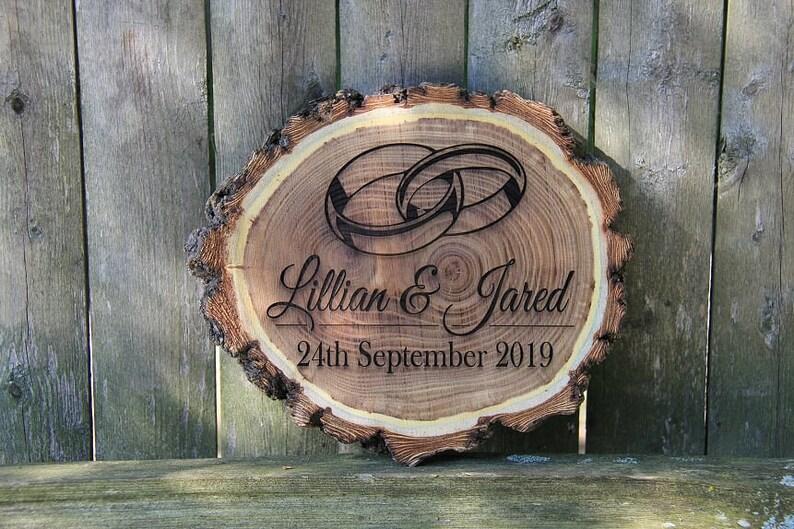 Engraved Rustic Log Plaque,