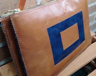 Leather Double Bellows Bag
