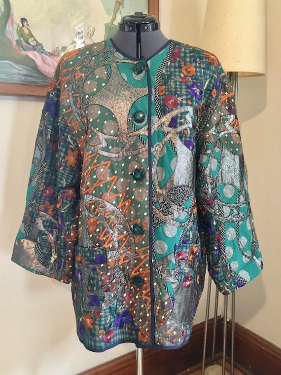 Incredible Koos Van Den Akker quilted jacket