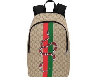 High End King Snake Backpack Custom Made Backpack - Hypebeast - Like Louis Vuitton, bape, Supreme - Gucci - Yellow Supreme Backpack