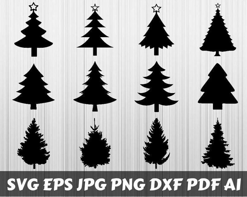 Christmas Trees Svg Christmas Trees Bundle Svg Christmas Trees Silhouette Christmas Trees Vector Printable Cut Files Cricut Digital File
