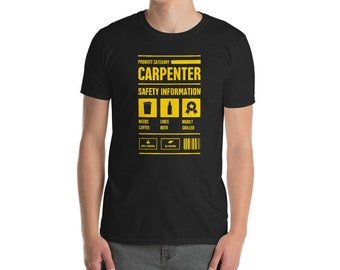 f2e046b6 Carpenter T-Shirt (Unisex) / Funny Carpentry Gift Idea For Woodworkers and  Construction Contractors -