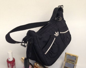 e4bba446b9 Vintage adidas bag, Small black adidas bag, Adidas pouch, Adidas cosmetic  bag, Adidas envelope bag.