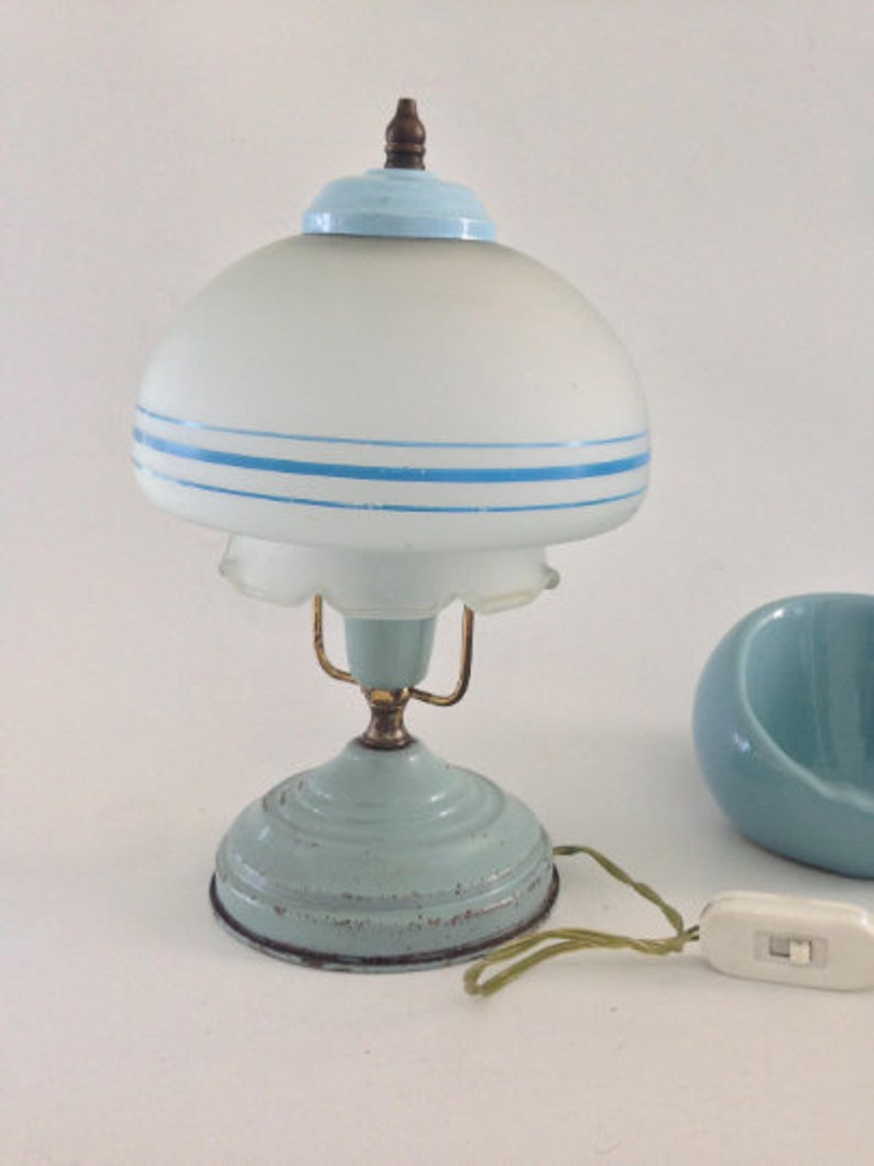 En Vintage MétalDe Art ChampignonVintageLampeChampignon BureauChevetPop Lampe Pkn0Ow8