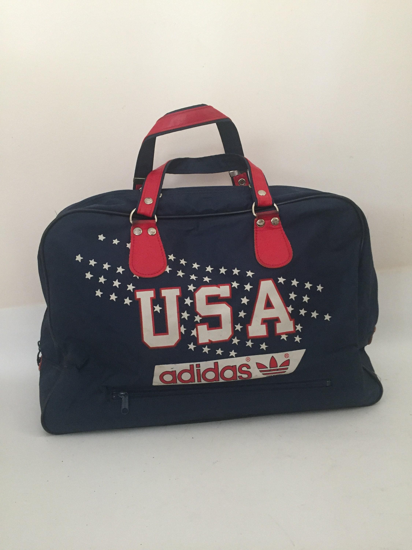a92635e37a45 Vintage Adidas bag Adidas Bag Adidas Duffle Bag Gym Bag