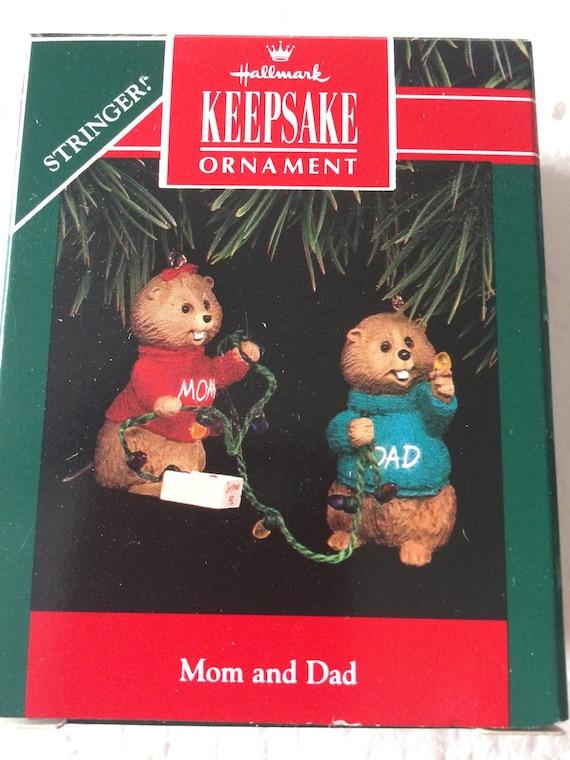1990 Hallmark Keepsake Ornament ~ Mom and Dad ~ MINT