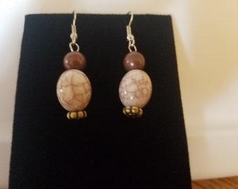 Black & Tan earrings