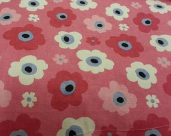 Fabric Remnant Pink Floral from Clarke