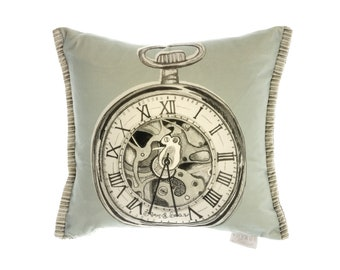 Time Keeper hand made cushion Voyage Design
