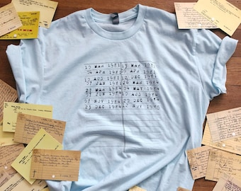 LOCAL PICKUP ONLY***** Library Due Date Card t-shirt