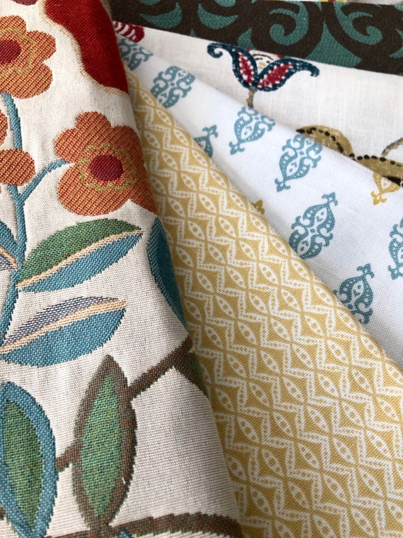 Designer Fabric Remnant Memo Sample Bundle pillows| craft| quilting patchwork sewing
