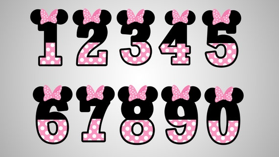 photograph relating to Minnie Mouse Silhouette Printable referred to as Minnie mouse quantities / Dxf / Svg / Png / Eps / cricut discover / silhouette / printable / blouse print style and design / electronic