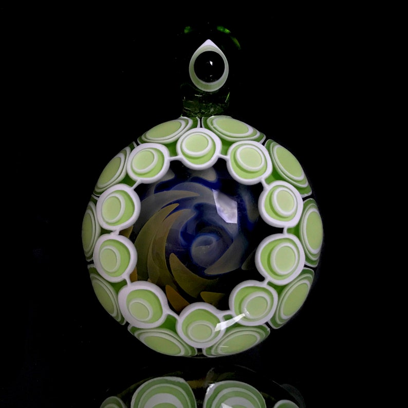 Dotstack/Fume Implosion Pendant - Lampworked Borosilicate Glass - Made by  Tastebud Glass Designs