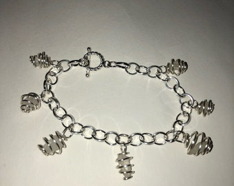 Small stone charm bracelet