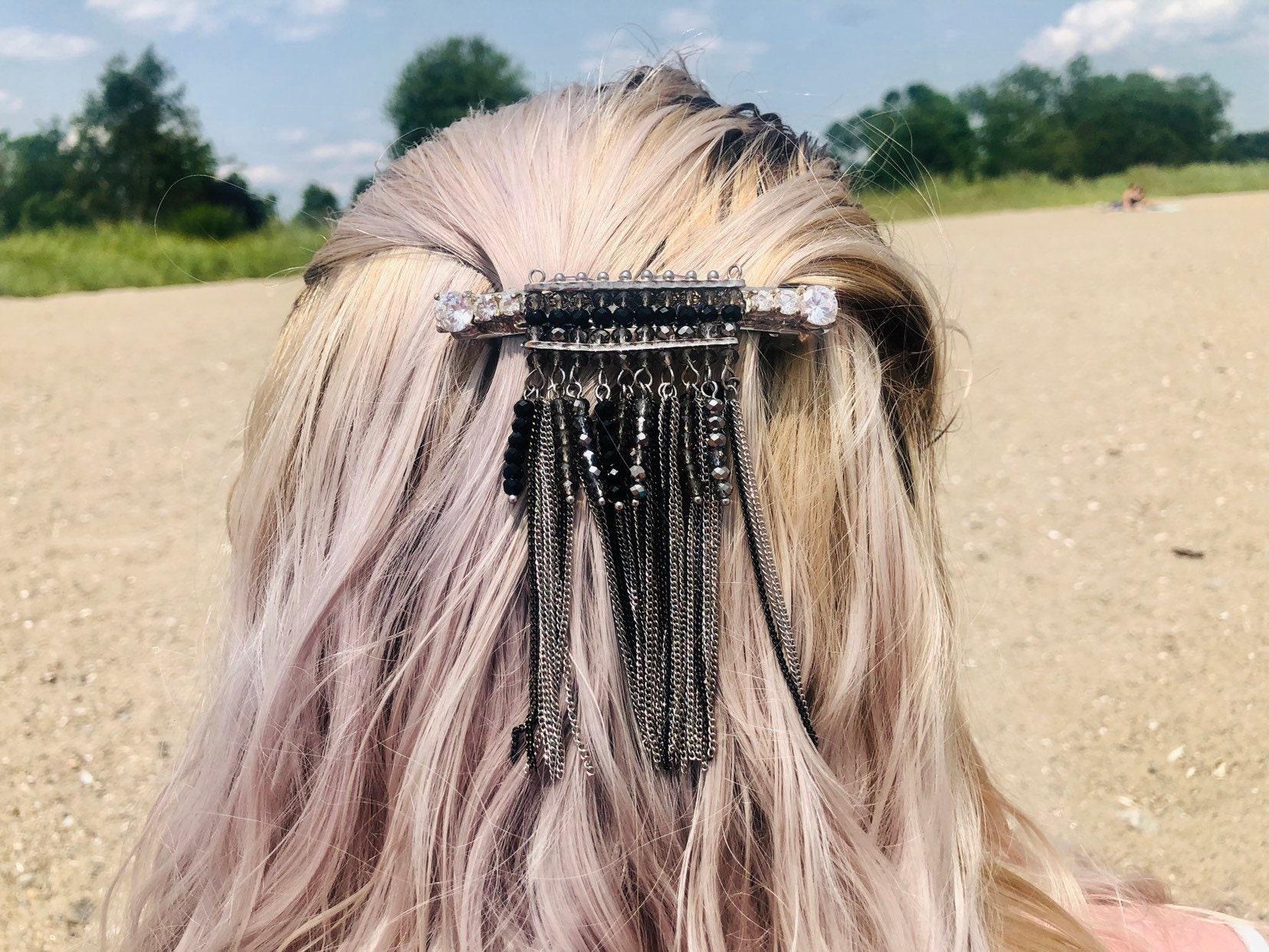 Women lady Faux Gemstone Rhinestone Boho Bohemian Party Hair chain head band