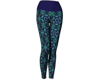 Kaleidoscope Earth Day Leggings / Womens Leggings / Yoga Leggings / Runners Leggings / Workout Leggings / Yoga Pants / Printed Leggings