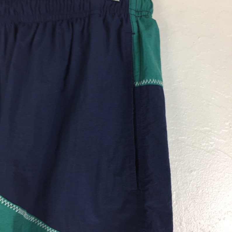 VTG IZOD Men/'s Color Block Swim Trunks Shorts Suit Blue /& Green