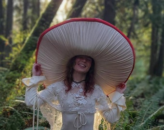 Amanita muscaria / Fly Agaric / Toadstool costume hat GIGANTIC hat