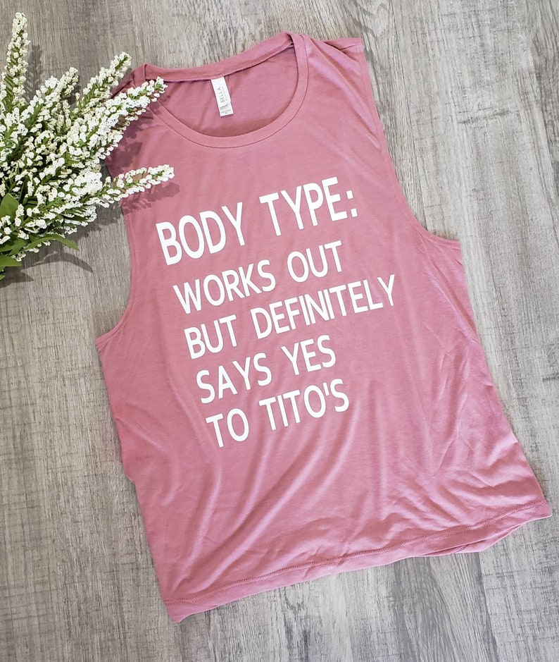 Alcohol Saying Shirt Workout Muscle Tank Tito Vodka Funny Graphic Tank