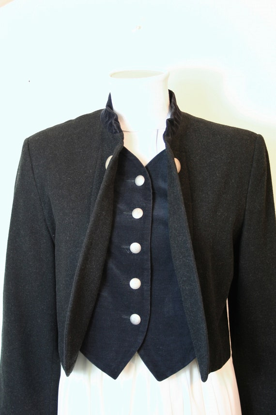 Vintage BASSET Women/'s Jacket Wool Made in Gemany 40M