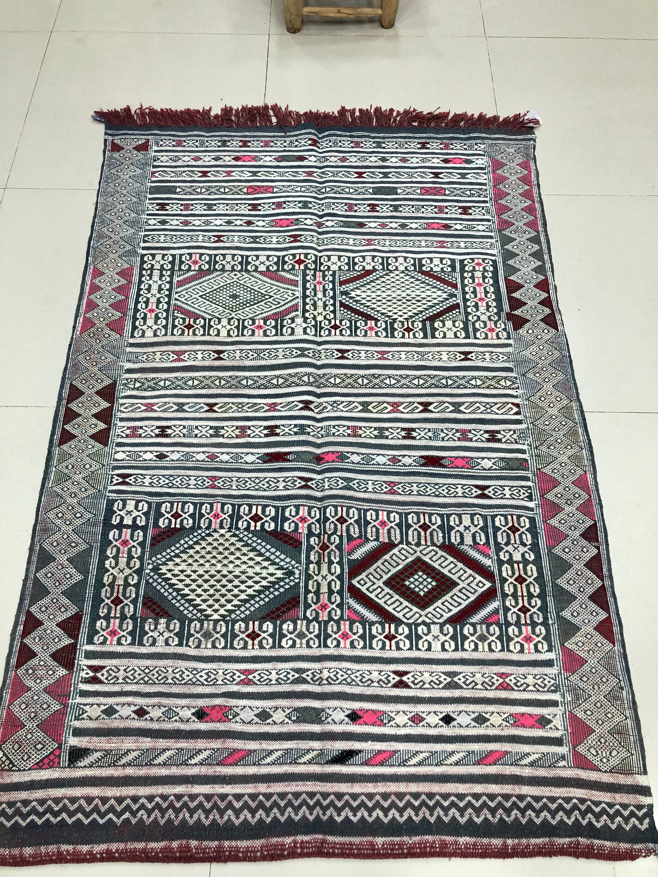 Ck 12 Kellim Hanbal Moroccan Berber Rug From The Atlas