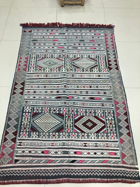 Ck 12 Kellim Hanbal Moroccan Berber Rug From The Atlas