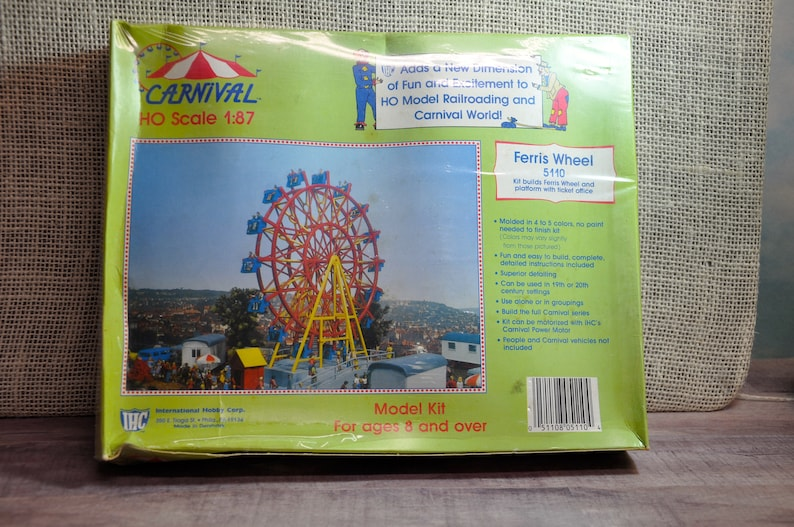 HO Scale 1:87 Circus Carnival Ferris Wheel 5110, IHC 5110-New - NOS -  Factory Sealed-Rare Find, Collectible