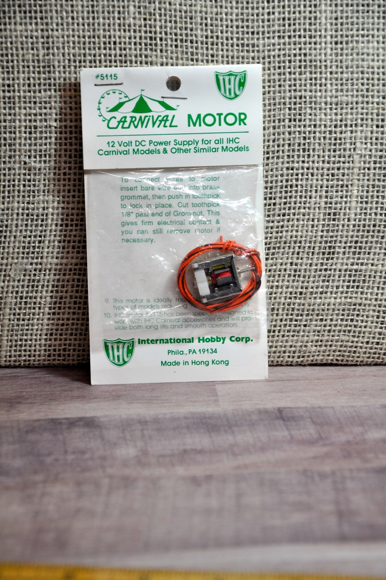 HO Scale Train Circus Carnival Ride Motor IHS New Factory Sealed, #5115  12Volt Motor