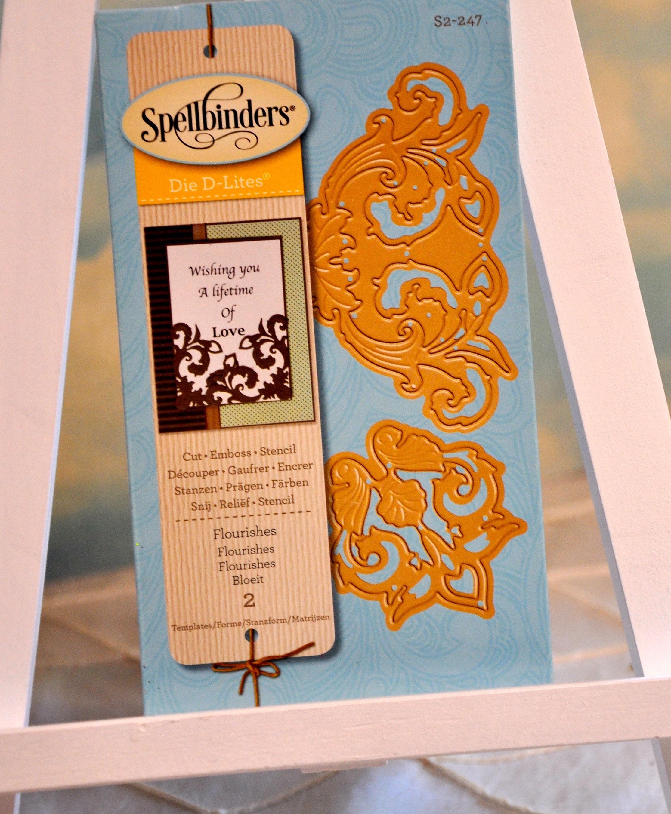 Spellbinders Die D-Lite S2-247 Flourish and Corner Flourish Die Set- 2 Dies  New In Original Unopened Package-Discontinued Item, Rare