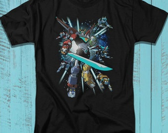 4fd31f2d9 Voltron T-Shirt, Animated Television Series Tee, Super Robot Lions Graphic  Art Illustration Shirt for Adults, Teens, Plus Size Available