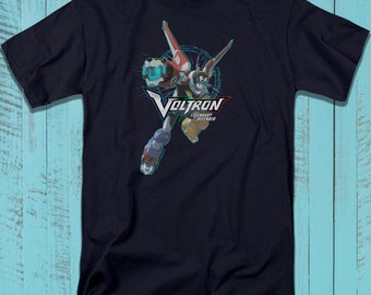 2fc38cd82 Voltron T-Shirt, Animated Television Series Tee, Super Robot Graphic Art  Illustration Shirt for Adults, Teens, Plus Size Available
