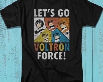 a0af1df7a Voltron T-Shirt, Animated Television Series Tee, Five Paladins Graphic Art  Illustration Shirt for Adults, Teens, Plus Size Available