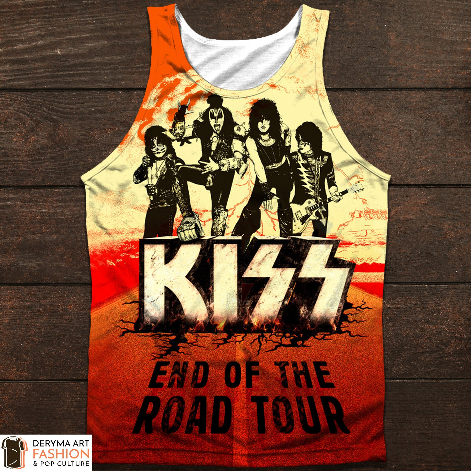 KISS End Of The Road Front And Back Licensed Adult Sublimation Tank Top