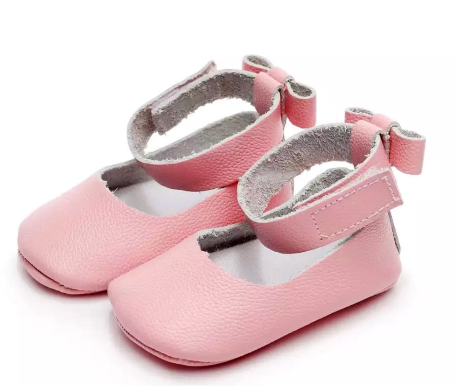 leather maryjane ballet flats- pink